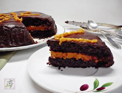 Tarta de Chocolate con Crema de Zanahoria