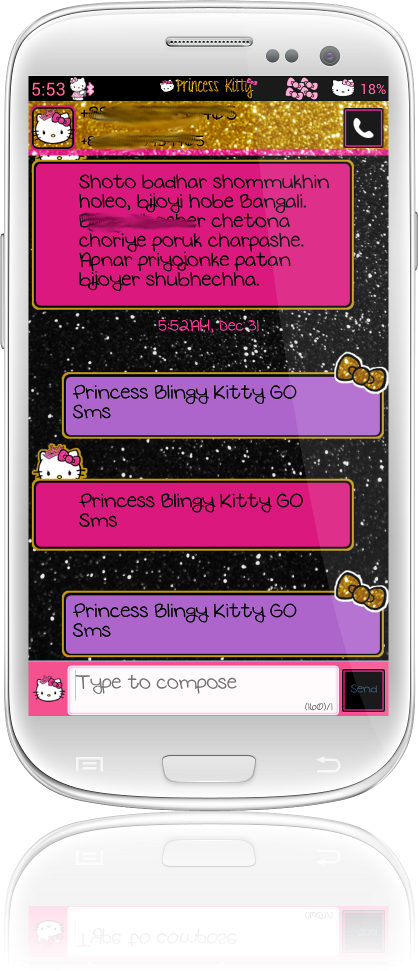 Pretty Droid Themes Princess Blingy Kitty Android Theme Pack