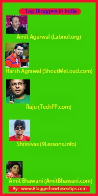 Top Bloggers in India, Indian bloggers