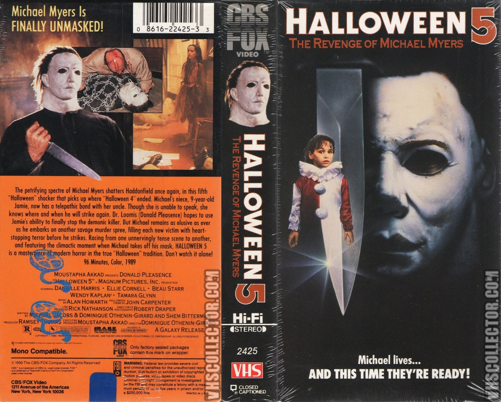 Halloween 5 Blu Ray.The Horrors Of Halloween Halloween 5 The Revenge Of Michael Myers