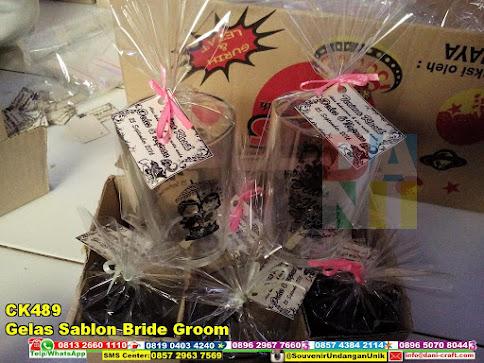 jual Gelas Sablon Bride Groom