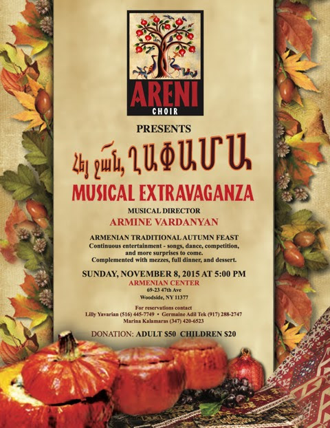 "ARENI CHOIR PRESENTS ""ARMENIAN TRADITIONAL AUTUMN FEAST MUSICAL EXTRAVAGANZA"""