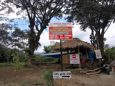 Wana Wisata Pendakian Gunung Kelud dari mBlitar Timur