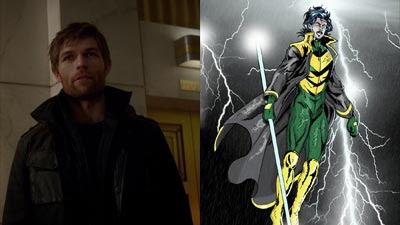 The Flash(2014), Liam McIntyre como Mark Mardon y su contraparte de los comics