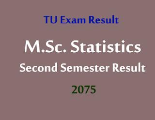 TU M.Sc. Statistics Second Semester Result