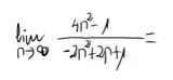 11. Límite de una sucesión (cociente de polinomios) 6