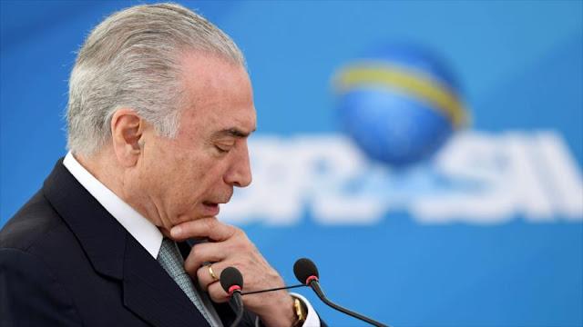 Presentan en Brasil nuevo pedido de juicio político contra Temer