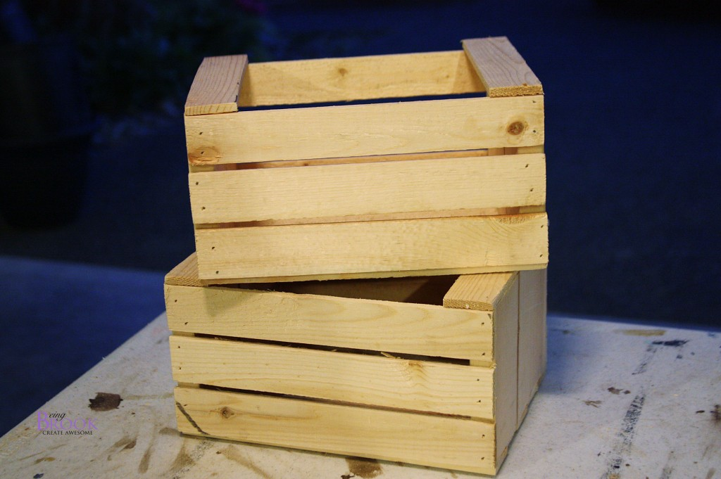 Diy Mini Crate Building Tutorial Beingbrook