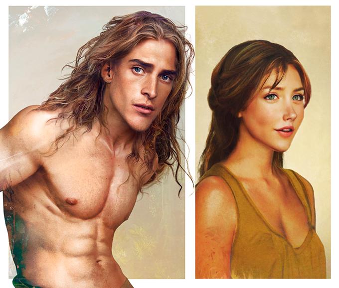 real life disney character Tarzan персонажи Дисней в реальной жизни Тарзан