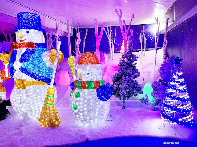 Check out the brightly lit Snowman