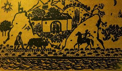 Εικονογράφηση του Σπύρου Βασιλείου για την Αιολική Γη του Ηλία Βενέζη