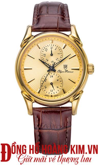 Đồng hồ nam dây da Olym Pianus bán chạy nhất 2016
