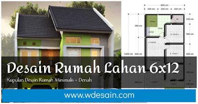 Desain rumah minimalis  di lahan 6x12 meter 1 lantai