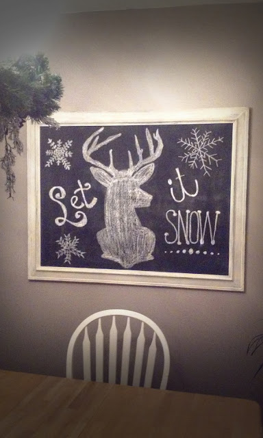 Winter Chalkboard by Handcrafted Occasions