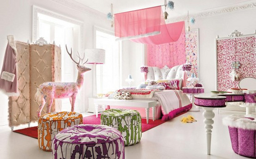 pink and purple eclectic bedroom 3