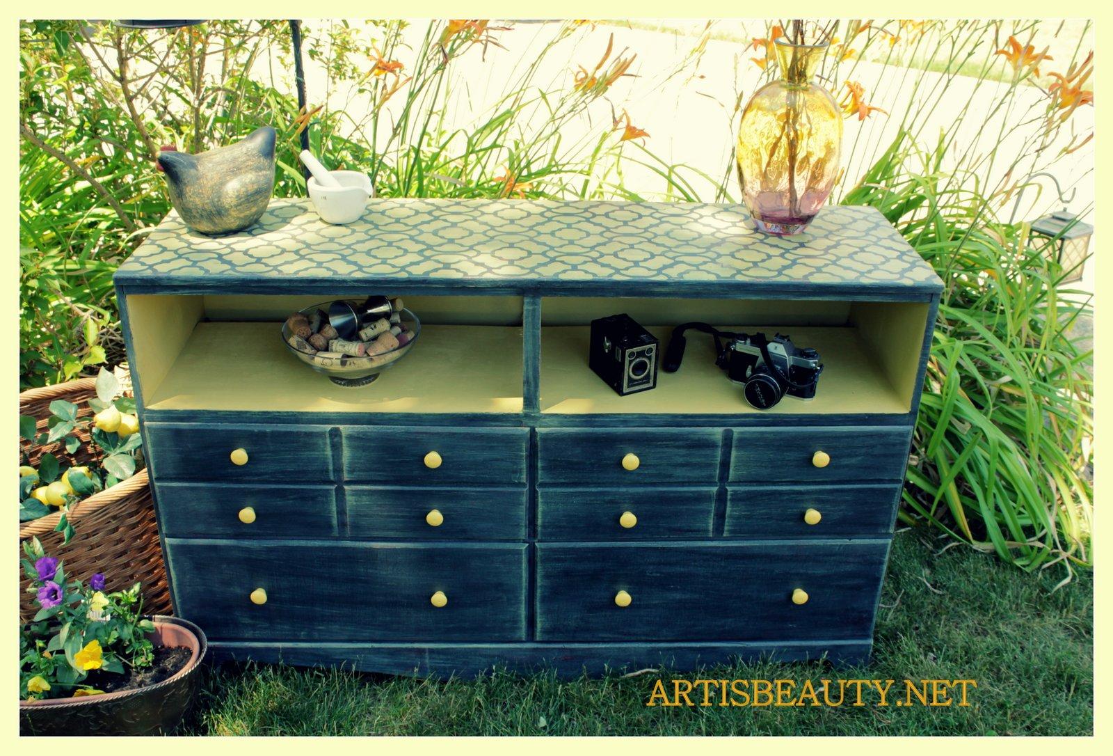 ART IS BEAUTY Trashy dresser turned Entertainment Center