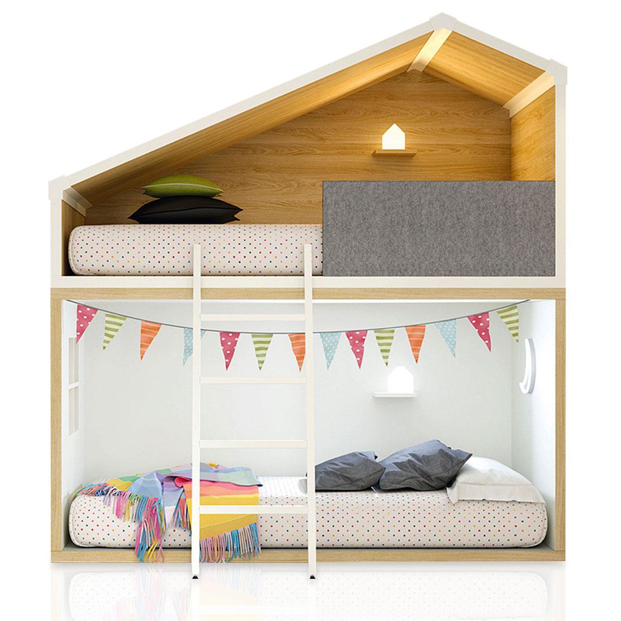 Litera cottage para niños