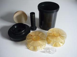 Plastimat-Entwicklungsdose, 2 Einleger, 2 Deckel, Dichtung für Filmentwicklung