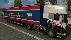 Dan-Czech Special Transport trailer mod