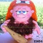 patron gratis muñeca troglodita amigurumi, free pattern amigurumi cave doll