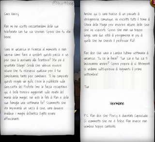 L3C1M1: una lettera da parte di Hermione, in vacanza in Francia