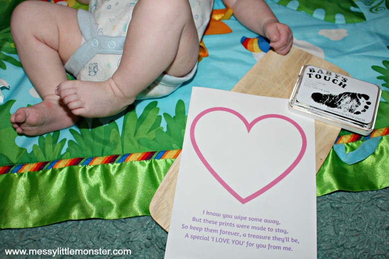 Baby footprint poem