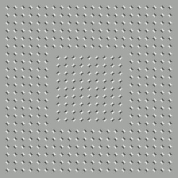 Optical Illusion in which pattern in the Central seems to be Moving