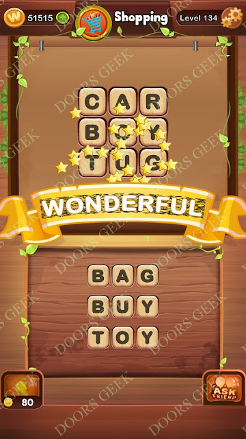 Word Bright Level 134 Answers, Cheats, Solutions, Walkthrough for android, iphone, ipad and ipod