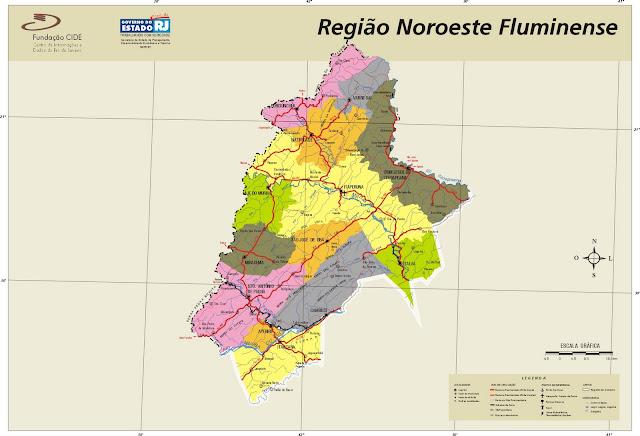 Mapa Região Noroeste Fluminense - Rio de Janeiro