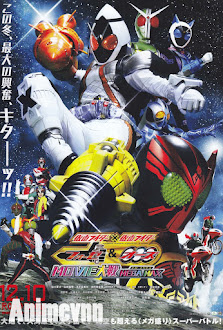 Kamen Rider X Kamen Rider Fourze & OOO: Movie War Mega Max - Kamen Rider X Kamen Rider Fourze & OOO: Movie 2011 Poster