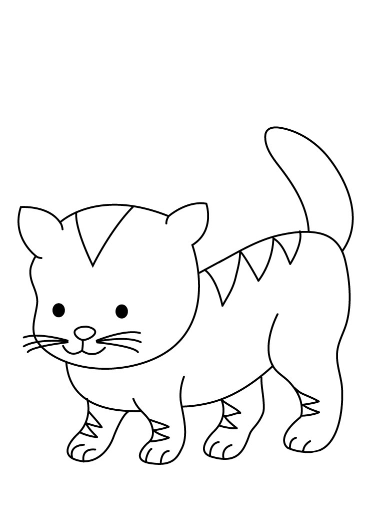 Cute Animal Baby Cats Printable Coloring Books