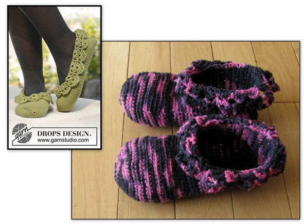 make it your own 2017 february crochet slippers drops prima ballerina design