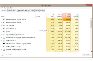 Cara memperbaiki TiWorker.exe high disk usage semua Windows