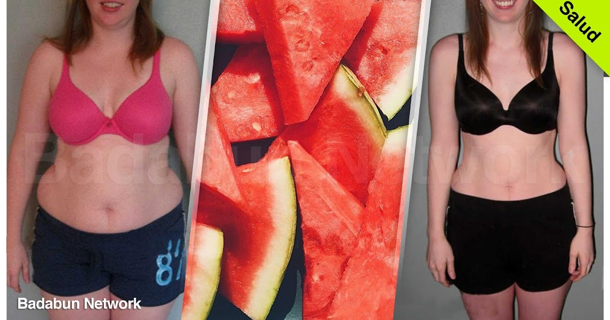 sandia peso obesidad nutricion dieta efectiva salud belleza