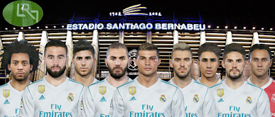 PES 2018 Real Madrid Facepack by LR7
