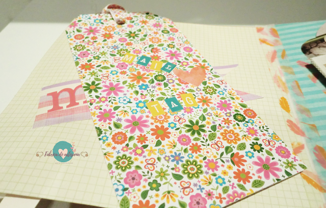 Mail tag floreado