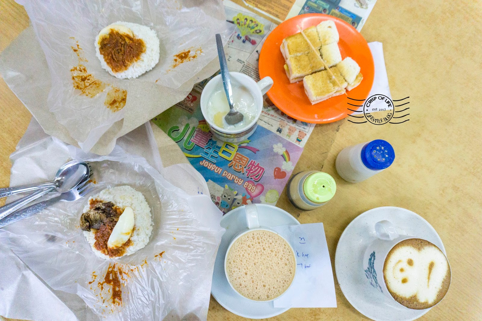 Coffee breakfast in Penang 76 Coffee Stall Batu Lanchang