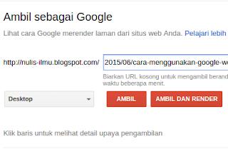 Ambil Sebagai Google