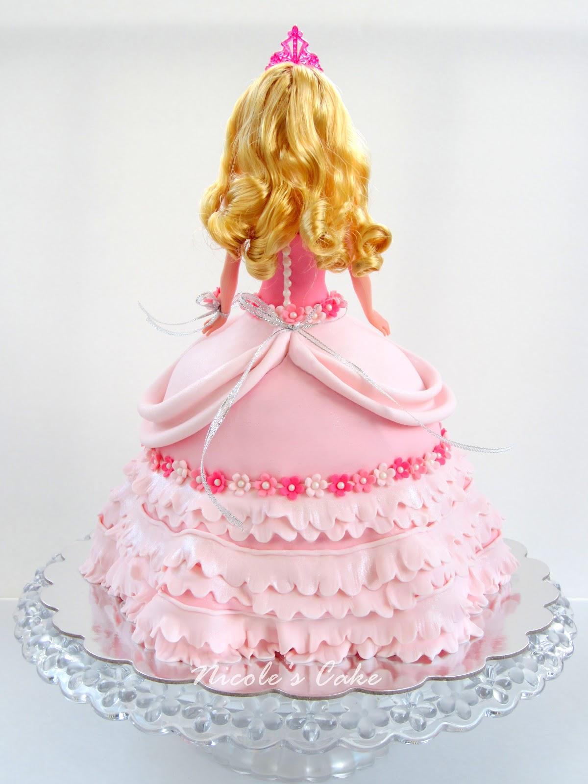On Birthday Cakes Gorgeous Princess Aurora Cake