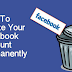 How To Delete Facebook Account Completely