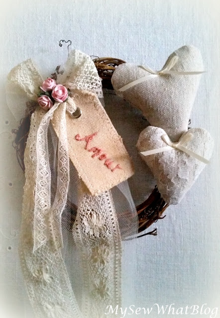 Lace and Heart Wreath