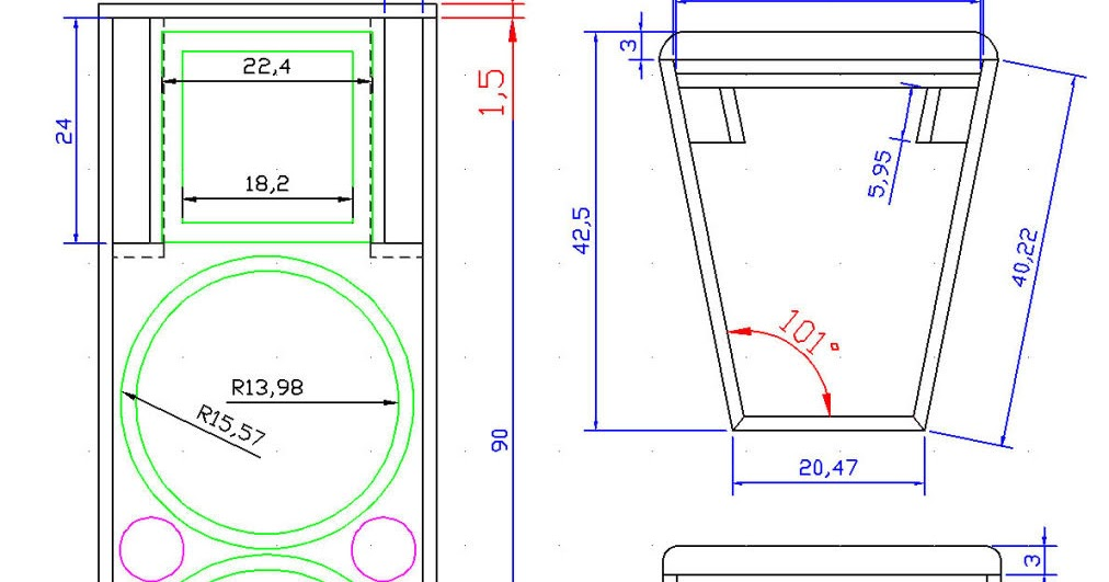ukuran box speaker  skema elektronik
