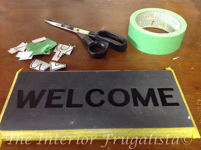 Reverse Stencil for Outdoor Welcome Sign