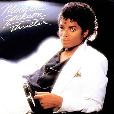 Sampul album Thriller - Album musik terlaris dunia