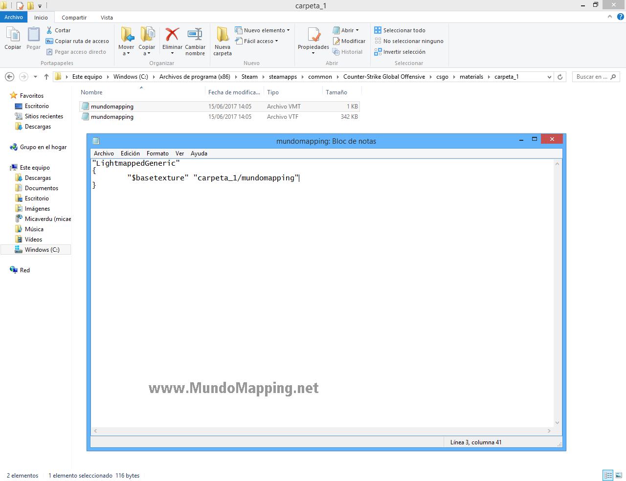 Crear texturas para SDK CS:GO (VTF y VMT)
