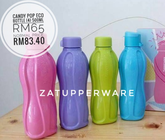 Tupperware  Candy Pop Eco Bottle (4) 500ml