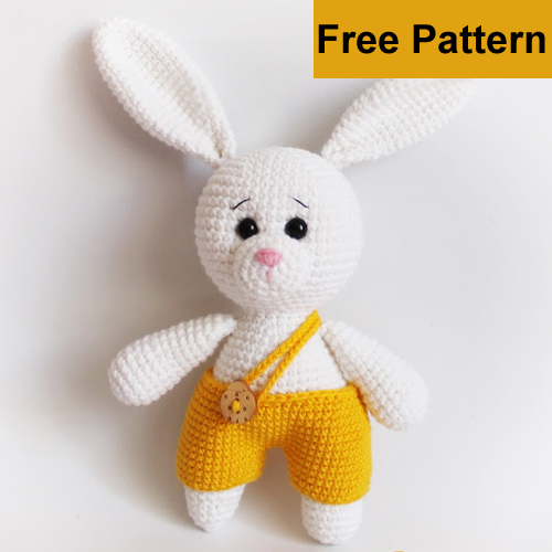 Amigurumi Yellow Pants Bunny - Free Pattern