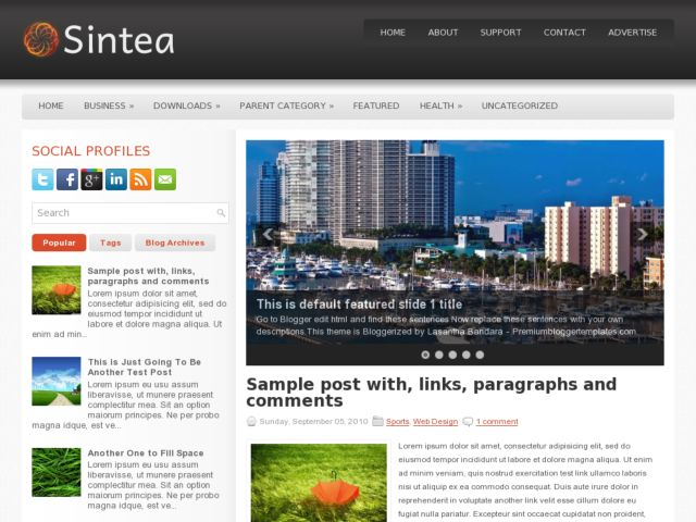 Sintea Blogger Template