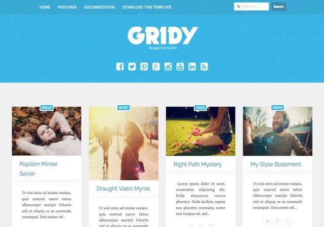 Gridy Blogger Theme