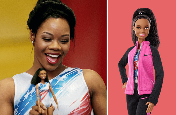 Barbie Introduces 17 New Dolls Based On Inspirational Women Such As Frida Kahlo And Amelia Earhart - Gabby Douglas, Gymnastics Champion
